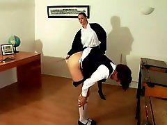 Schoolmistress caning
