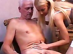 Stunning blonde nurse swallows senior injection