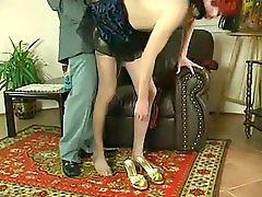Cute crossdresser loves her boss