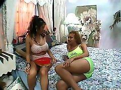 Vintage busty Tgirl drills slut