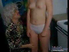 This whore gives a blowjob