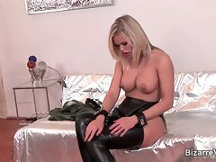 Two kinky hottie in latex clotn sucking part5