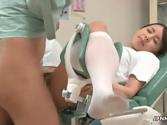 Cute asian nurse gets horny part5