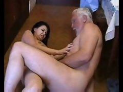 Old Dad Forced Rough sex with young Daughter