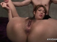 Asians ass is fingered