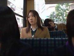 Japanese School Girls in a Bus 2