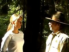 Ella blackmail fucked by corrupt game warden