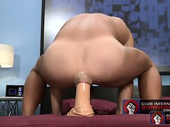 Jessie Balboa shoves an entire 18 inch dildo up his asshole
