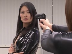 Japanese asian lesbians in latex catsuits part 5
