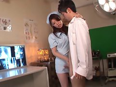 Japanese nurse hard wanking