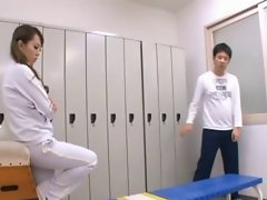 busty japanese gym teacher gets a creampie by eliman