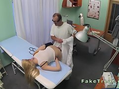 Doctor fucks patient from behind