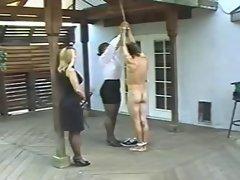Hot hard caning punishment
