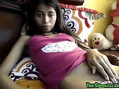 Hot Petite Indian Slut Fucks Her Little Pussy