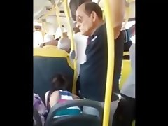 old man grope girl in bus