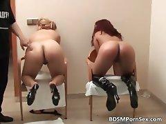 Nasty horny sluts got spanked badly part5