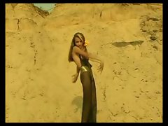 Ukrainian girl - beach dance