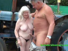 Granny fucked on the farm